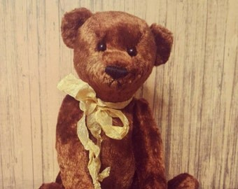 Pierre Teddy bear 8.6 inches OOAK, plush