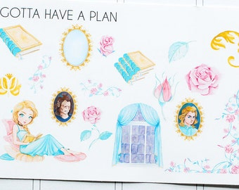 Planner Stickers Tale As Old As a Time Deco for Erin Condren, Happy Planner, Filofax, Scrapbooking