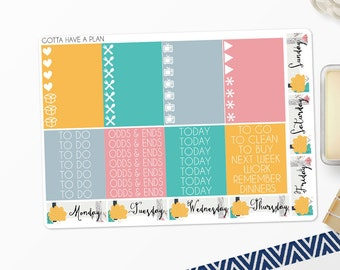 Planner Stickers Friendly Forest Headers and Littles for Erin Condren, Happy Planner, Filofax, Scrapbooking