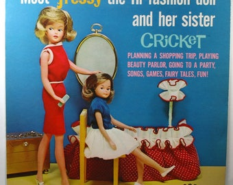 Vintage Tressy & Cricket Doll Record Album 1965 Majorette Records Fashio Dolls-Kids LP