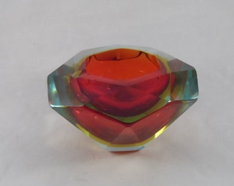 Murano Faceted Ashtray
