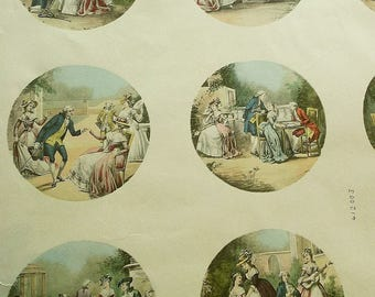 Antique French Print Sheets for Miniatures