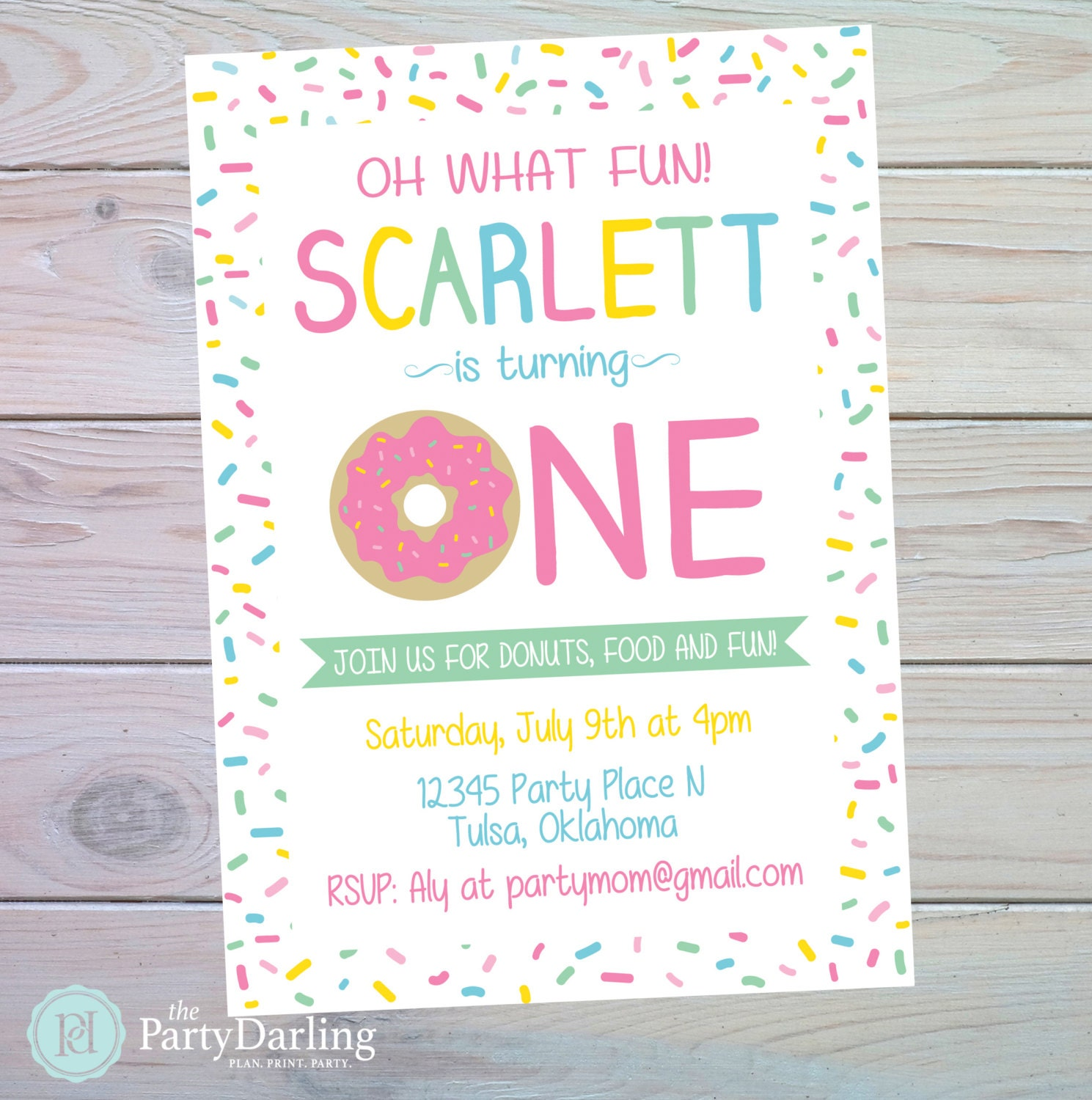 Donut Party Invitation Donut Birthday on Shutterfly Sign In Page