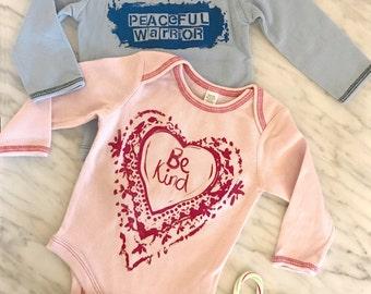 Long Sleeve Thermal Baby Bodysuit Sizes 3-12M