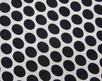 "Dress Fabric, Polka Dot Print, Home Decor Fabric, White Cotton Fabric, Quilt Material, Sewing Decor, 45"" Inch Fabric By The Yard ZBC7091A"