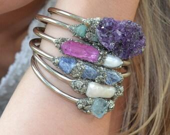 Birthstone Bracelets, Birthstone Jewelry, Gemstone bracelets, Opal, Citrine, Blue Topaz, Garnet, Amethyst, Aquamarine, Herkimer Diamond