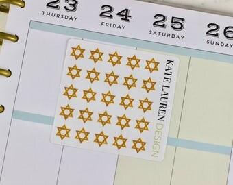 Judaism Stickers, Star of David Stickers, Hebrew School Stickers, Jewish Stickers, Judaism Planner Stickers, Jewish Planner Stickers