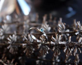 German silver ring.