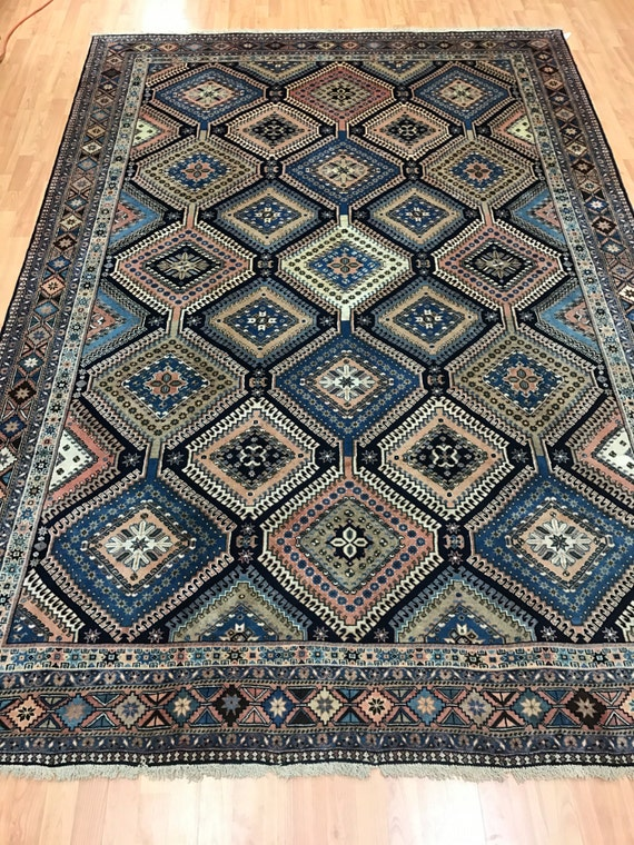 "6'9"" x 9'9"" Persian Yalameh Oriental Rug - Fine - Hand Made - 100% Wool"