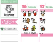 Munchkins - Festive Holiday Christmas Deco Planner Stickers (M216)