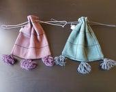 Tartan wool Medieval purse LARP reenactment