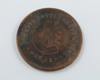 Straits Settlements One Cent 1901 Coin.