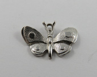 Spotted Butterfly Sterling Silver Charm or Pendant.