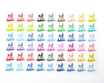 Running Planner Stickers, Treadmill Stickers, Diet Stickers, Exercise Stickers, EC Fitness Stickers, Workout Stickers, Training Stickers