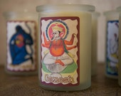 Yoga Candle - Lord Ganesh - All Natural Beeswax Candle - Meditation Candle  Ganesh Candle Beeswax Candle Yoga Candle