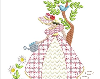 Southern belle machine embroidery download 5 diff sizes (3.4X3.4    4x4  5x5  6x6 7x7  )