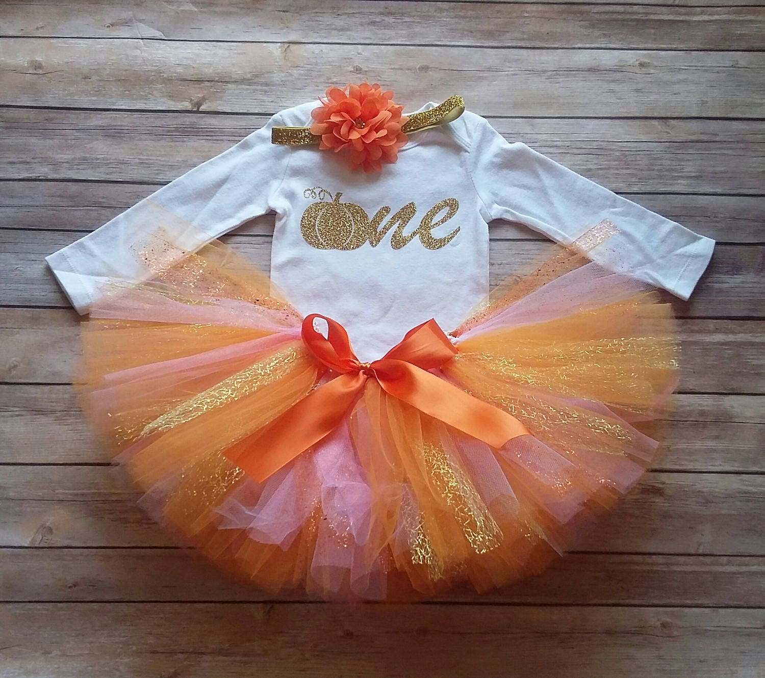 Pumpkin Smash Cake: Fall 1st Birthday Girl Outfit Pink CUSTOMIZABLE Outfit