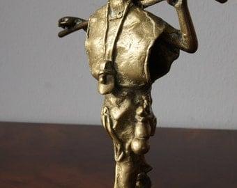 Antique Bronze Chinese Man Bronze Figurine