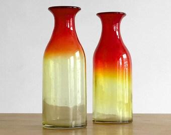 Pair of large vases glass blown - Murano glass vase 2