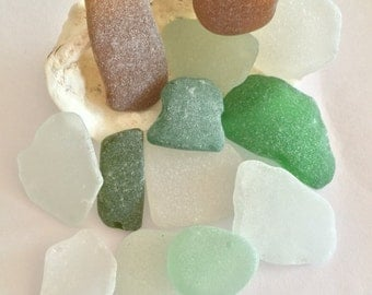 Large Sea Glass Pieces, Surf Tumbled Glass, Genuine Sea Glass, Genuine Beach Glass, Big Sea Glass Piece