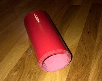 3 - 9X36. Bright Red. Flocked. Iron on. Heat Transfer Vinyl. HTV.