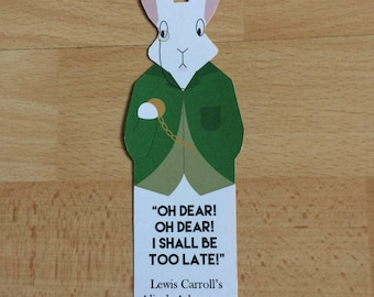 Alice in Wonderland Bookmark 'White Rabbit'