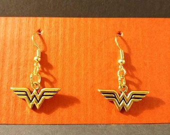 Gold Wonder Woman Earrings