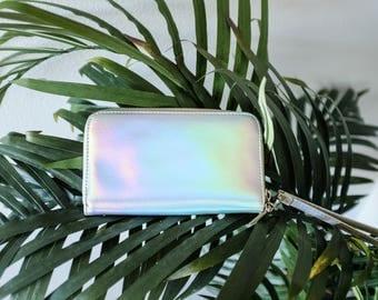 Holographic Handbag Wallet - Vintage - Iridescent - Disco - 80s - 90s