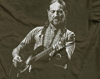 WILLIE NELSON - Country Music Legend Tee - Classic Country Touring Hero / Guitarist / Singer Songwriter / Folk Hero