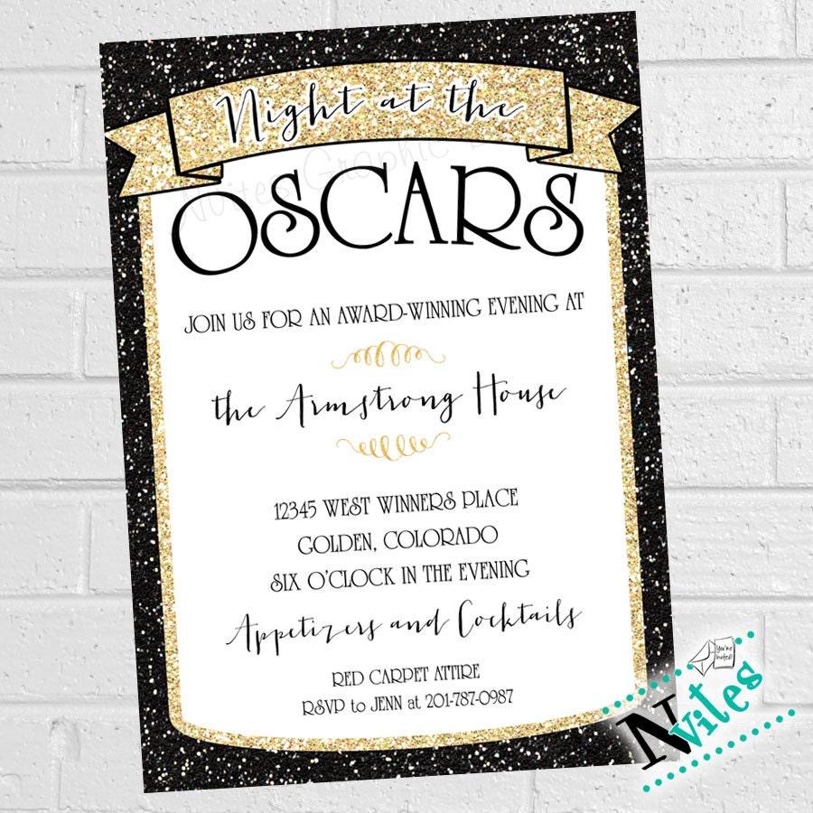 Oscar Party Invitation Academy Award Party Invite Movie – Oscar Party Invitations