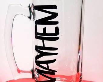 26oz MAYHEM Beer Mugs