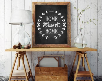 quote wall art printable home sweet home print wall art decor