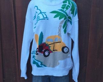 Retro Novelty Beach Bum Sweater by Pringle