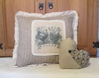 Primitive Wellcome pillow set