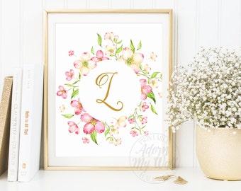 Monogram Print, Personalised Monogram, Initial Print, Custom Family Monogram, Name Print, Letter Print, Nursery Letter, Printable Wall Art