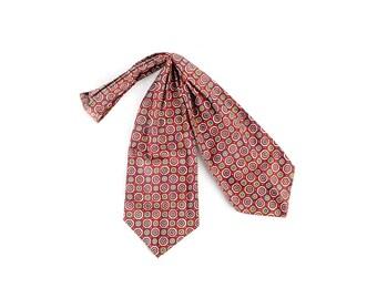 Vintage Ascot - Vintage 60s Ascot - Ascot - Ascot Tie - Vintage 60s Cravat - Foulard Ascot - 60s Foulard Ascot - Red Blue Yellow - 60s Tie