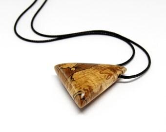 Wooden pendant Spalted Oak - Oil Finish