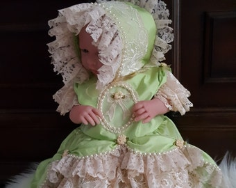 Baby Lace Dress, Girls Lace Dress, Beige Lace Dress, Baby Marie Antoinette, Rustic Lace Dress, Girls Beige Lace Dress, Baby Dress, Pupolino.