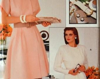 Uncut 1980s Vogue Vintage Sewing Pattern 7242, Size 18-20-22; Misses' Dress