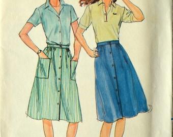 Uncut 1980s Butterick Vintage Sewing Pattern 3674, Size 14-16-18; Misses' Skirt
