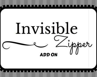 Invisible Zipper Add On, Invisible Zipper Add On For Pillow Cover