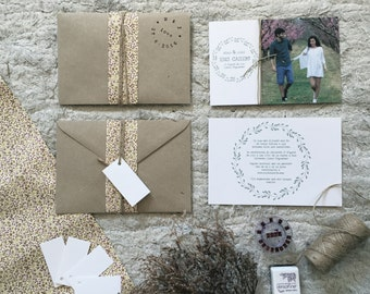 Wedding invitation, Spring