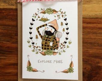 Explore More Lumberjack Boy Illustration Art Card