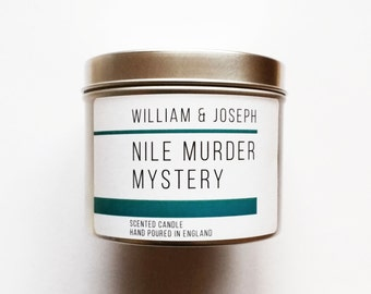Nile Murder Mystery Candle   Agatha Christie, Murder Mystery, Death on the Nile, Bookish Candles, Book Candle, Bookworms, Gifts