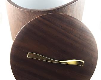 Woodgrain Vinyl Ice Bucket