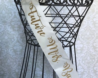 Future Mrs Bridal sash great for bachelorette and bridal showers