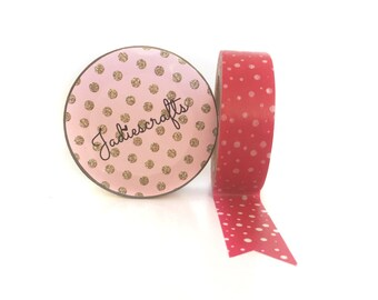 White Snow Falling Red Christmas Washi Tape