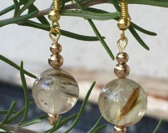 Gold Bridal Earrings Cream Pearl Earrings Gold Wedding Earrings Bridesmaid Earrings Gold Gold Dangle Earrings, Stone Earrings, Drop Earrings