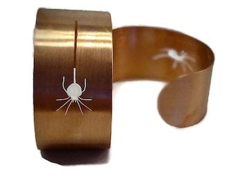 Along Came a Spider Copper Cuff