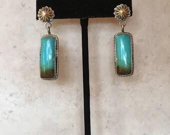 Kingman Turquoise Earrings Design 17